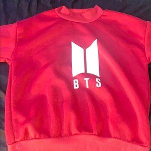 Red BTS sweatshirt